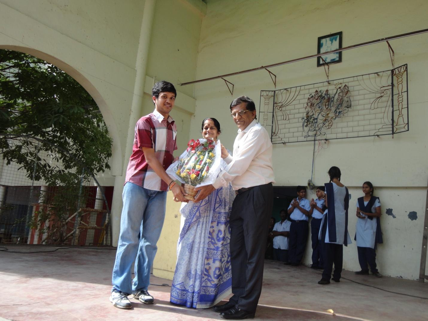 Appreciation from the school for the school topper & Chennai City Topper – M. Mukundram