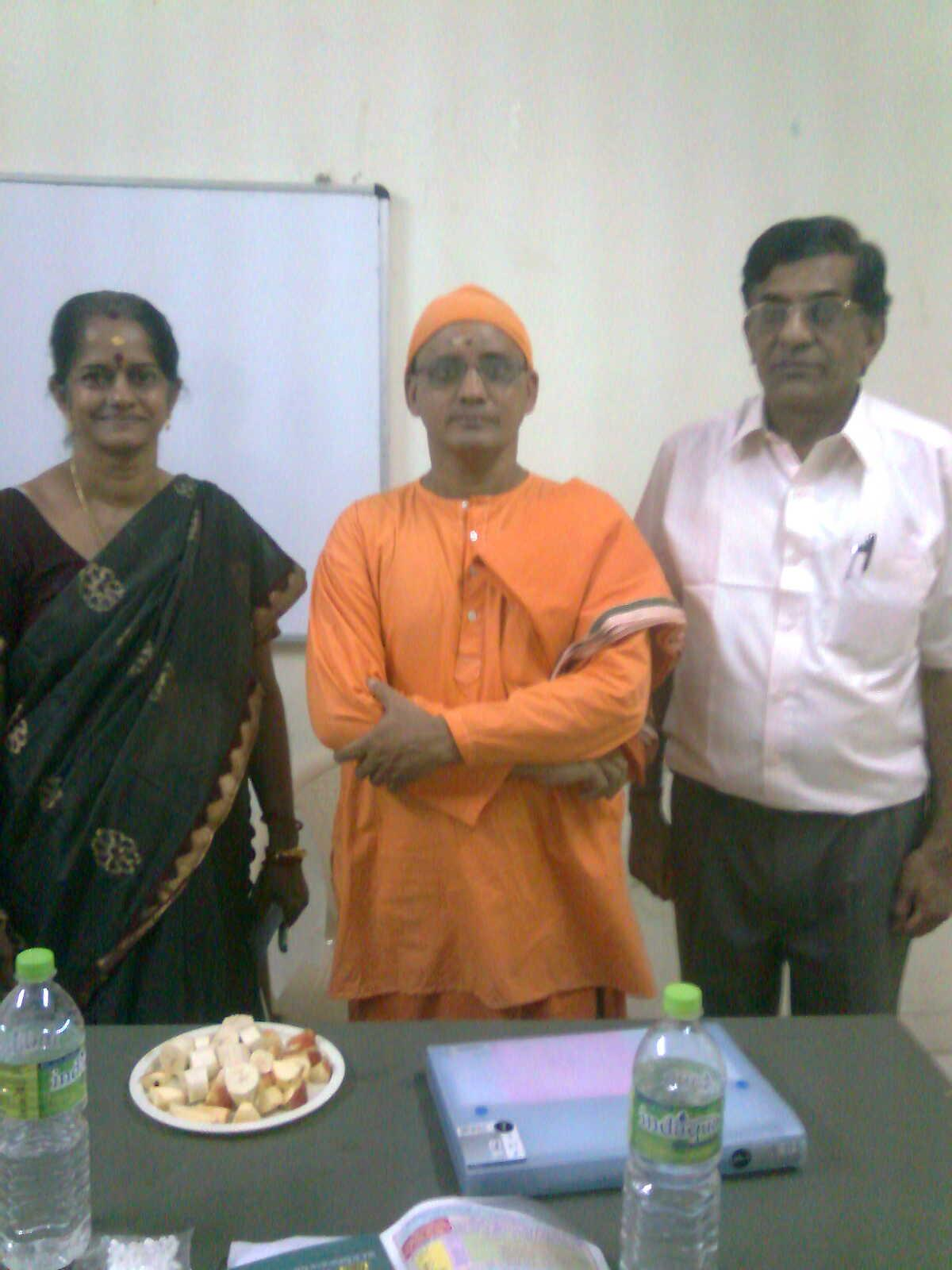 Orientation Program for the teachers  by Swami.Vimurtanandaji, from Ramakrishna Mutt.( Mylapore)