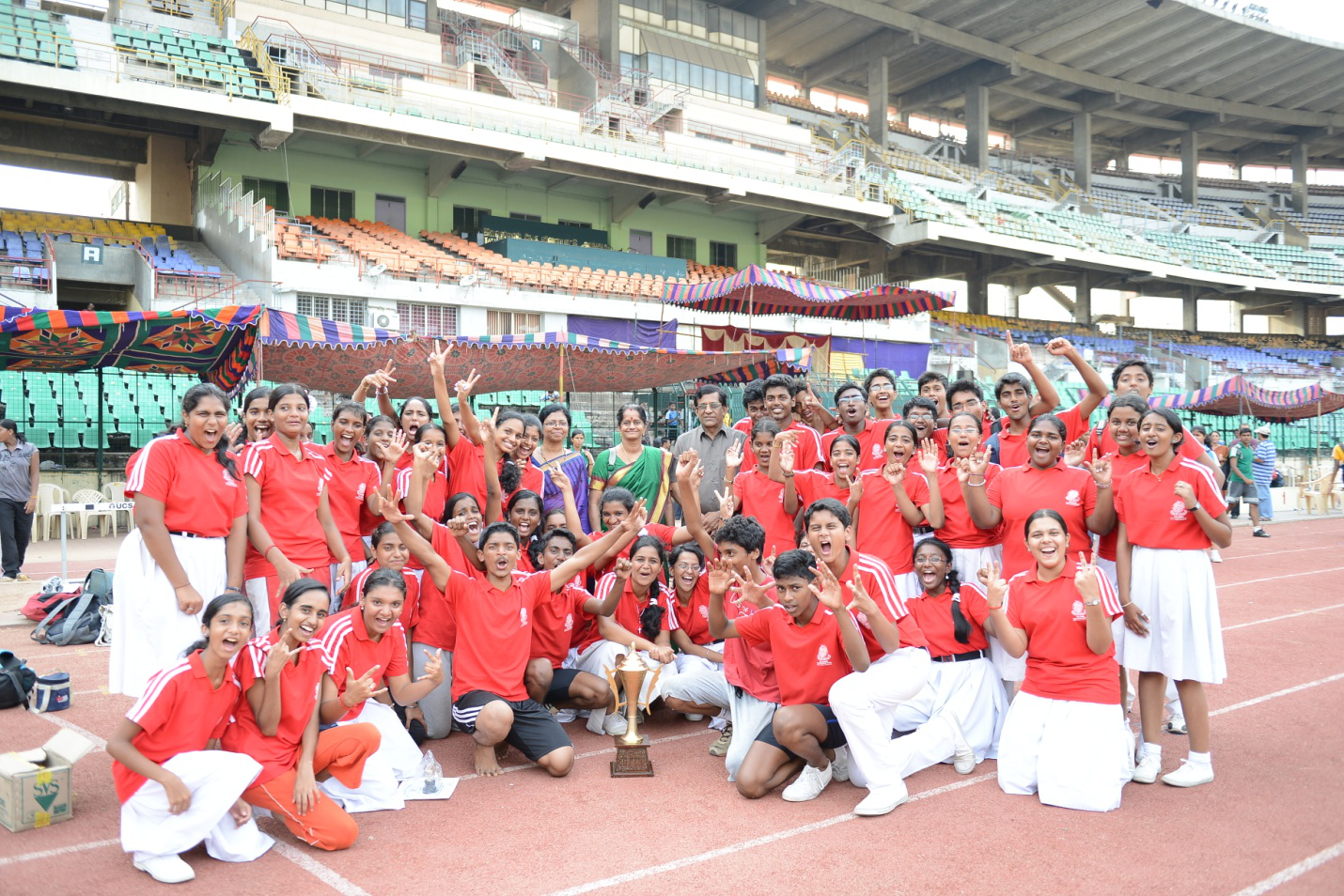 Sporting spectacle in the heart of the city- sports day