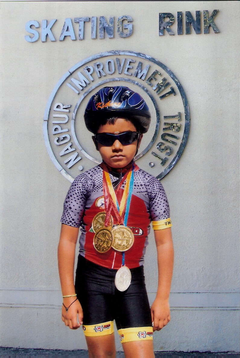 Kishore of class 1 is a budding skating champion