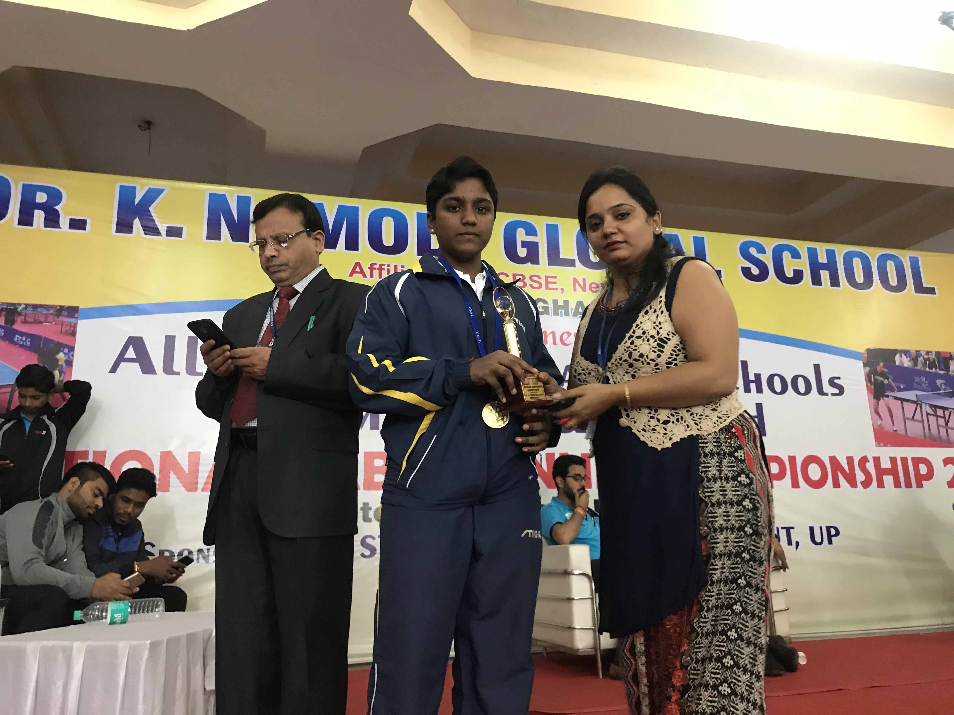 M. Nithyashree - cluster national table tennis winner
