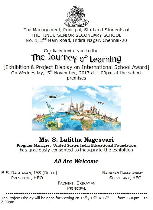 Exhibition & Project Display on International School Award