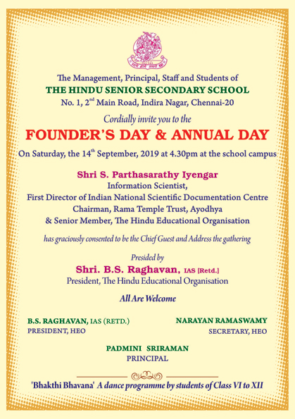 Founder's Day and Annual day 2019-20